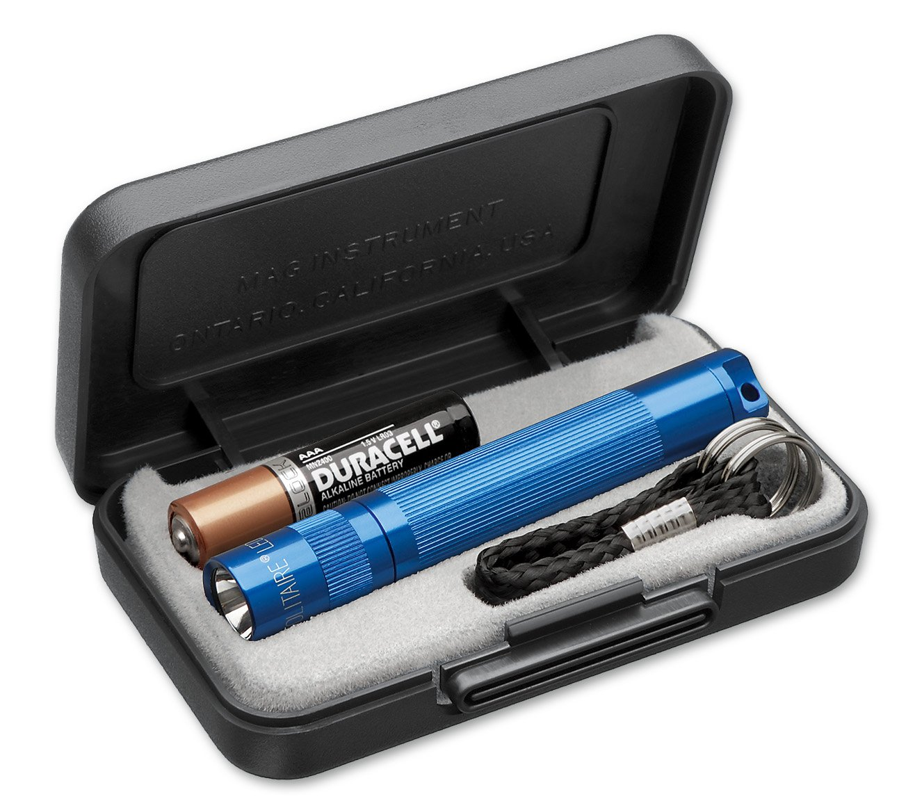 J3A112 Фонарь-брелок Maglite Маглайт LED (светодиод), Solitaire, 1ААА, синий, 8,1 см, в пластиково, 0000000473125