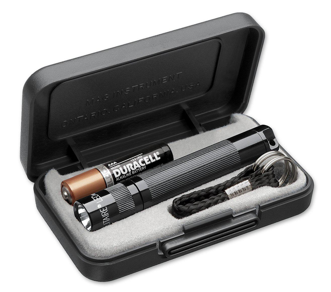 K3A012E Фонарь-брелок Maglite, Solitaire, 1AАА, черный, 8,1 см, в пластиковой коробке, 0099999940275