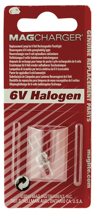 LR00001 Лампочка галогенная Maglite Маглайт, для фонарей MagCharger RE2019E/RE4019E/RE5019E, 1 шту, 0038739107011