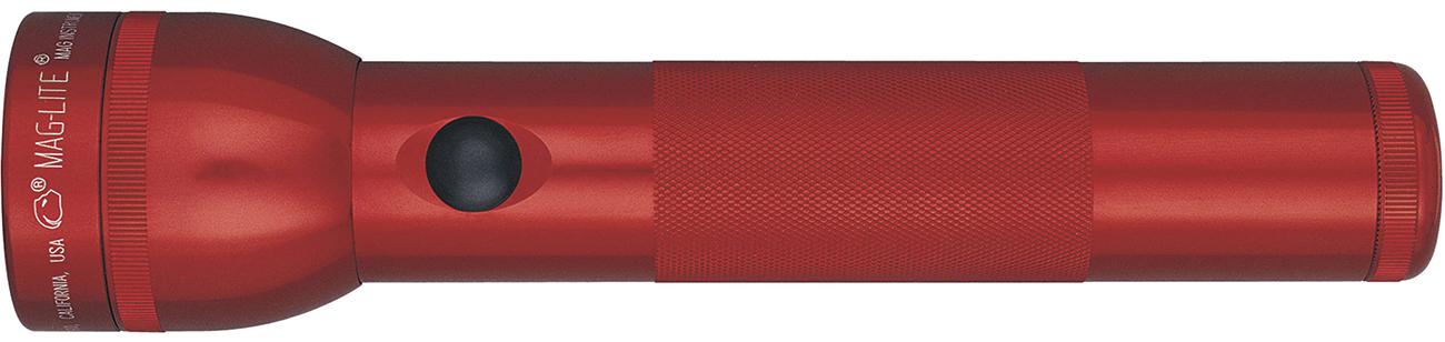 S2D036E Фонарь Maglite Маглайт, 2D, красный, 25 см, в блистере, 0038739012308