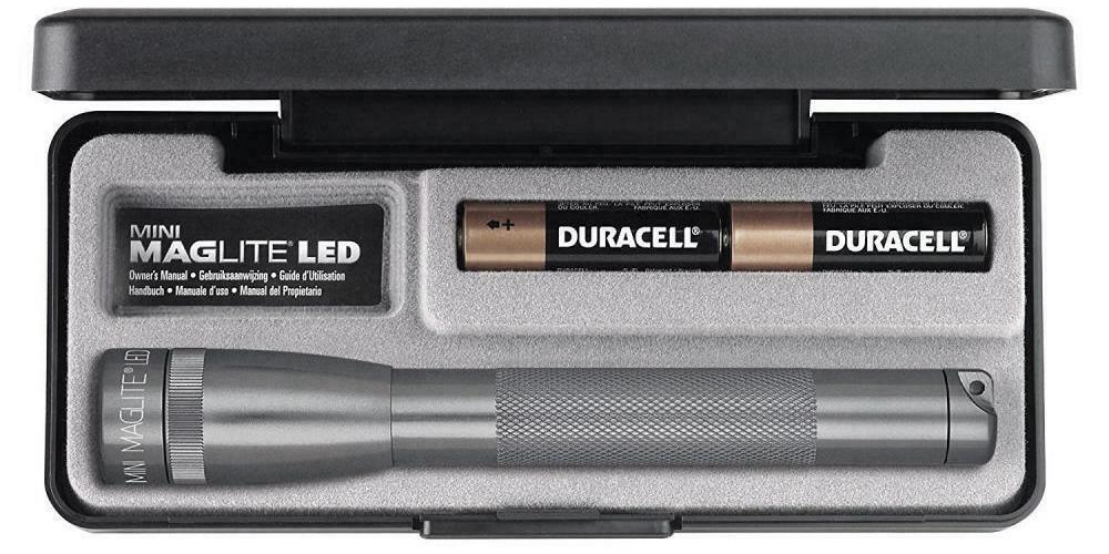SP22097F Фонарь Maglite Маглайт LED (светодиод), 2АА, серый, 16,8 см, в пластиковой коробке, 0038739531366