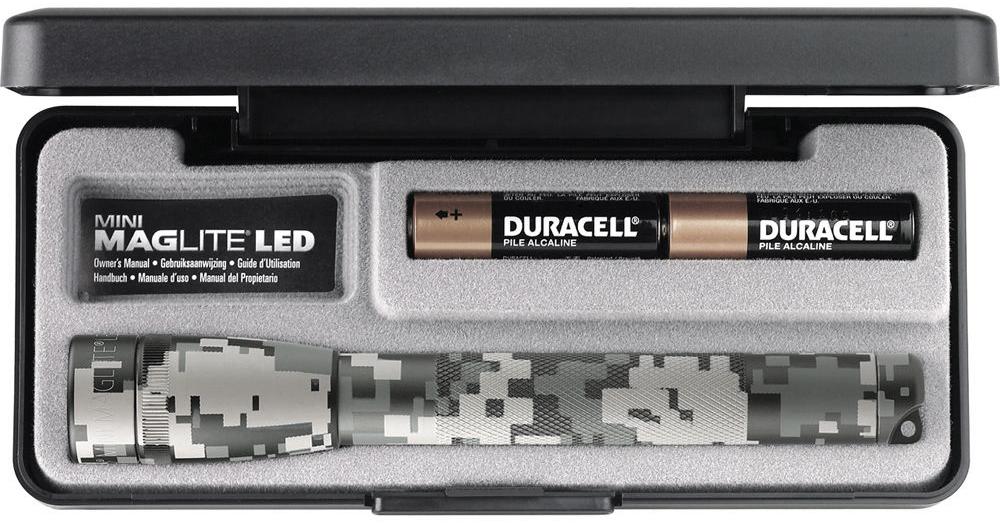SP22MR7F Фонарь Maglite Маглайт LED (светодиод), 2АА, камуфляж, 16,8 см, в пластиковой коробке, 0038739532394