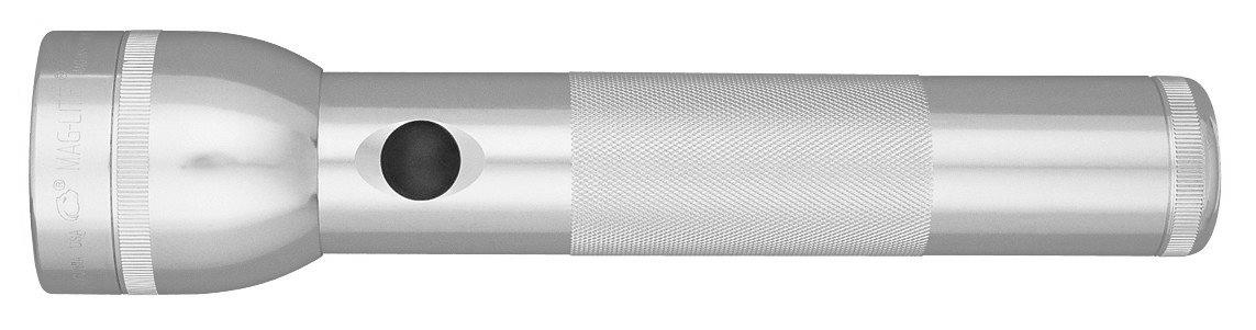ST2D105E Фонарь Maglite Маглайт LED (светодиод), 2D, серебристый, 25 см, в картонной коробке, 0038739512846
