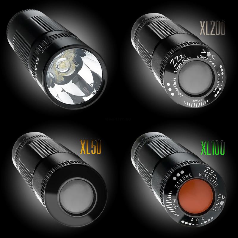 XL100S3017 Фонарь Maglite Маглайт LED (светодиод), XL100, 3ААА, черный, 12,2 см, в пластиковой кор, 0000000454322