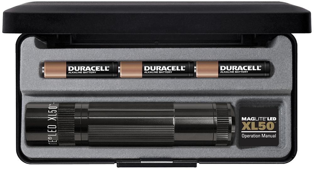 XL50S3017 Фонарь Maglite Маглайт LED (светодиод), XL50, 3ААА, черный, 12,2 см, в пластиковой короб, 0000000454315
